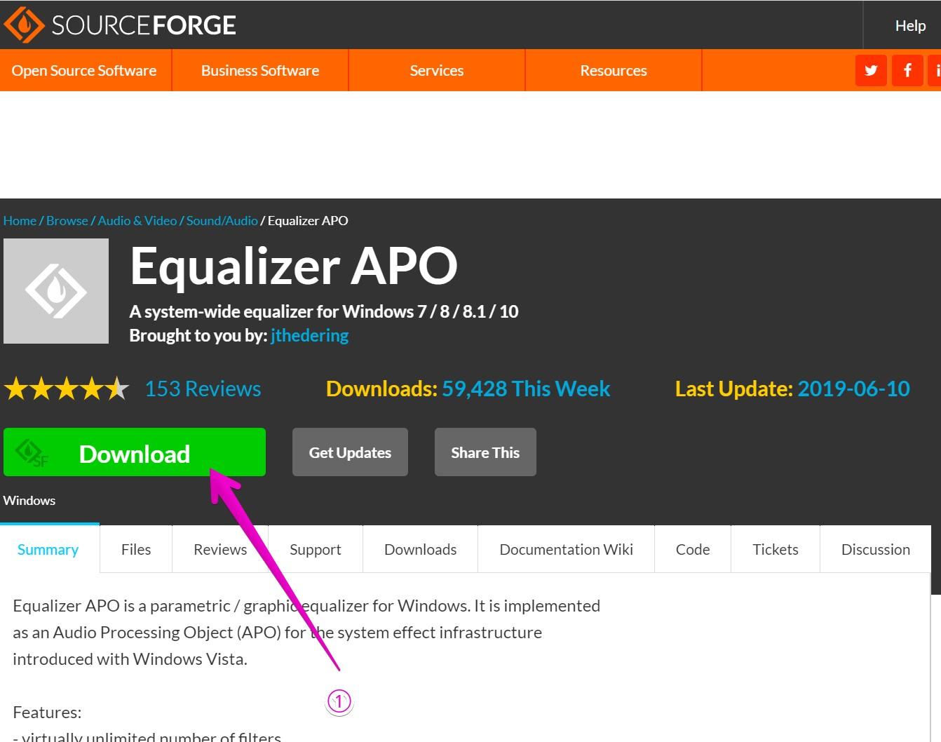 Equalizer APO公式サイト