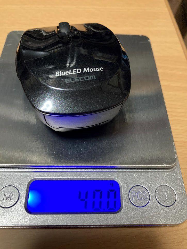マウス「M-FBL3BBSBK」電池あり重量