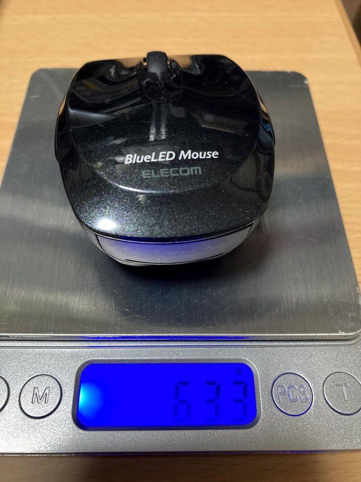 マウス「M-FBL3BBSBK」電池なし重量